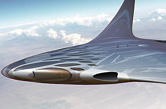 设计师幻想未来超音速无人机