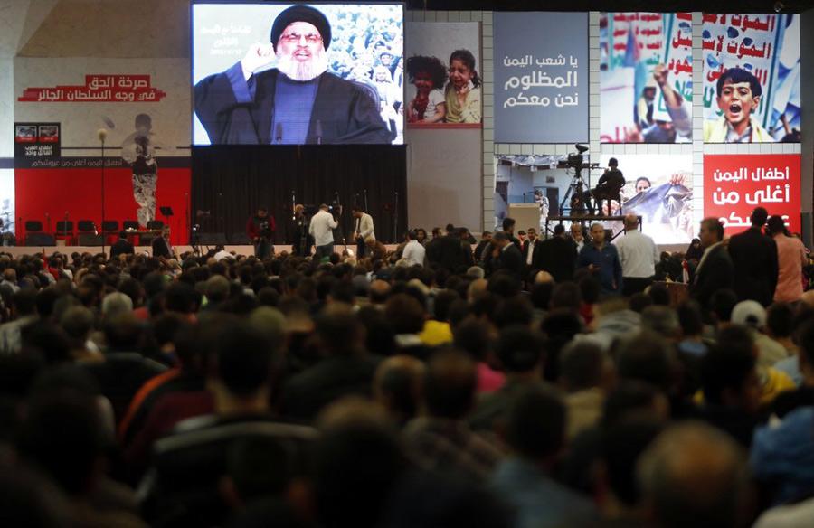 黎巴嫩真主党视频抗议视频发表演讲沙特空袭干冰领袖做菜图片