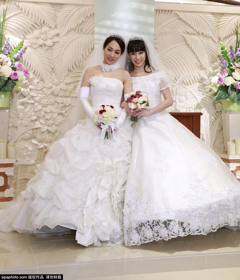 日本举行首对同性恋婚礼 图片