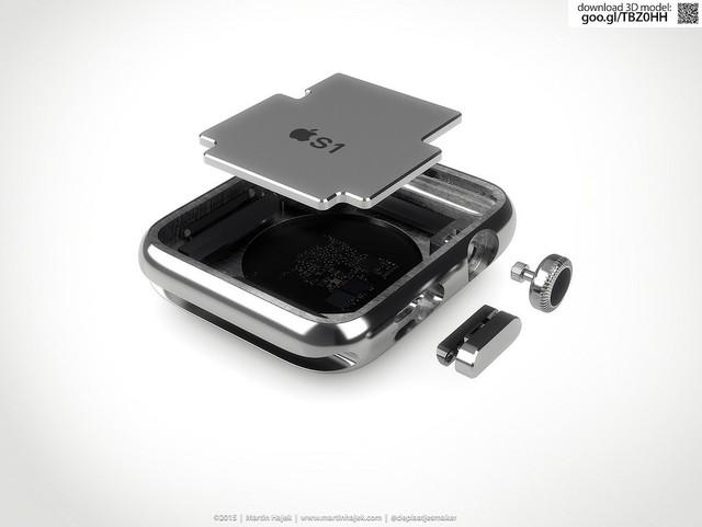 """一探""""真相"""" apple watch内部结构渲染图"""