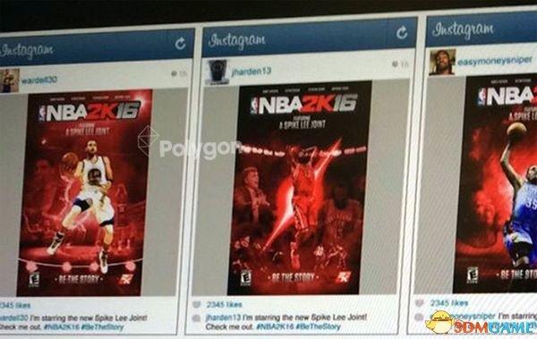 传《NBA 2K16》拥有三封面 斯派克-李将参与制作