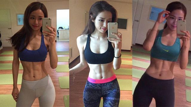 韩国普拉提美女秀性感腹肌