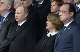 普京与奥朗德出席亚美尼亚大屠杀100周年纪念活动