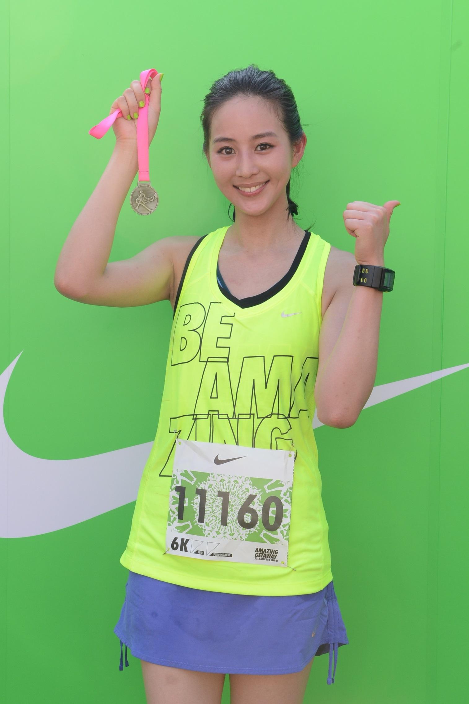 quot;台湾第一气质美女quot;张钧甯:用跑步释放自己