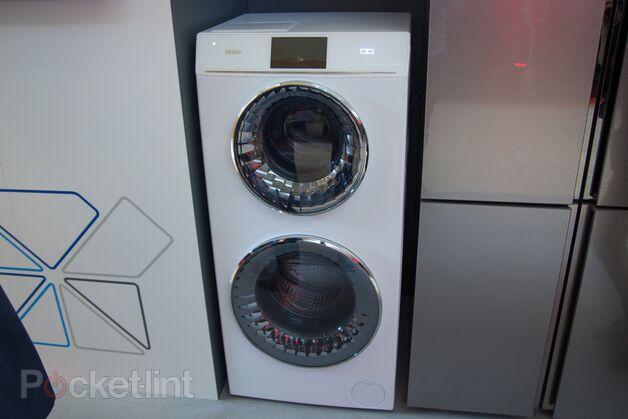海尔展示双滚筒洗衣机
