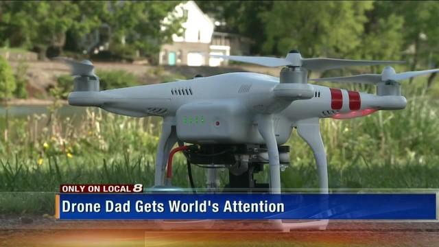 爹地你够了!美国爸爸用无人机送女儿上学