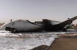 沙特联军空袭也门首都机场炸毁客机