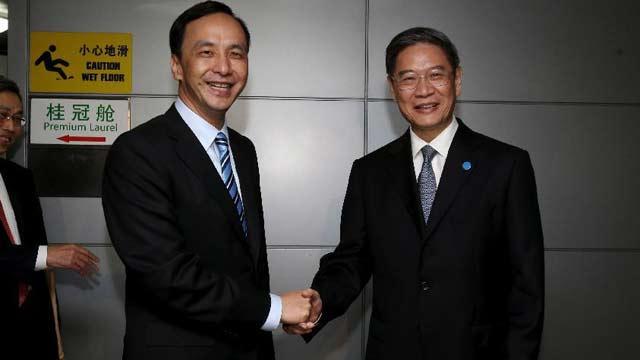 中国国民党主席朱立伦一行抵达上海