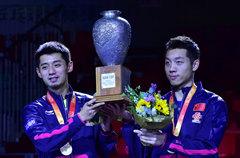 许昕/张继科4-2樊振东/周雨 世乒赛男双夺冠