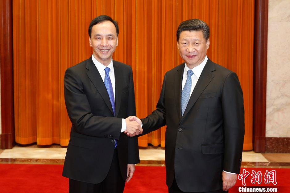 习近平会见中国国民党主席朱立伦