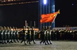 解放军方阵亮相俄罗斯阅兵式彩排