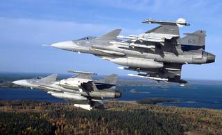 """瑞典JAS-39""""鹰狮""""战斗机"""