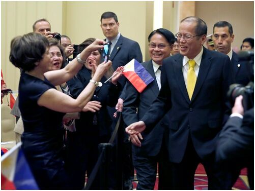 阿基诺在美大谈任内政绩:菲律宾现在是亚洲宠儿