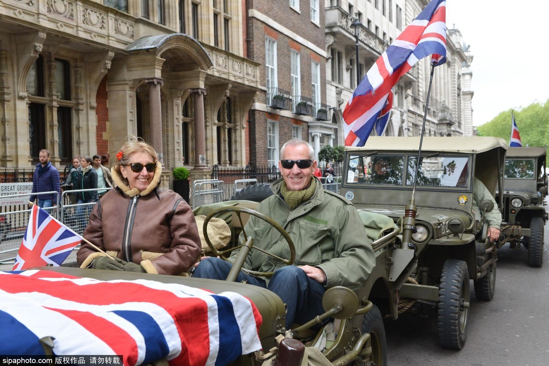 """/伦敦大本钟亮""""V""""字灯 纪念二战欧洲胜利日70周年"""