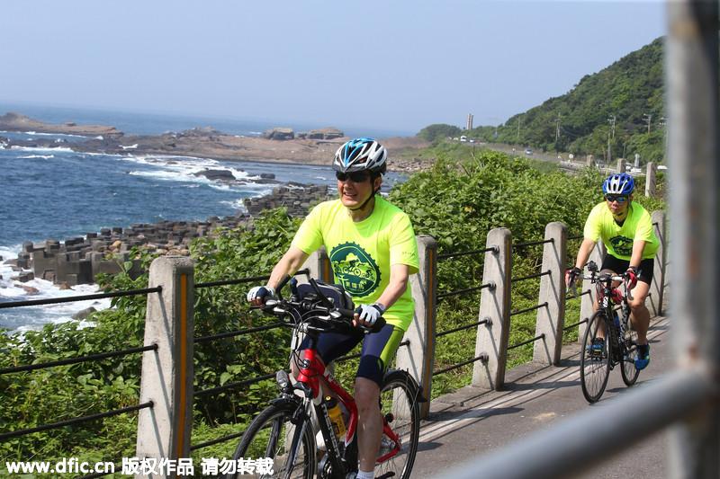 马英九参加自行车骑游 狂飙至42公里大呼过瘾