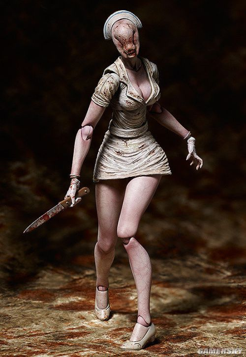 《寂静岭2》性感护士可动手办 血腥级制服诱惑