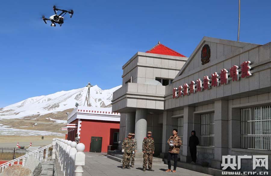大疆无人机助力新疆红旗拉甫边检站中巴边境管控