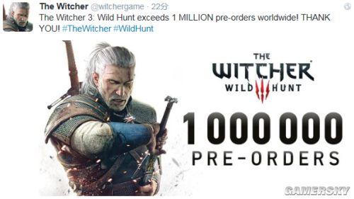 《巫师3》全球预购量破百万 官方乐开花
