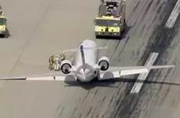 庞巴迪CRJ200放不下主起落架惊险迫降