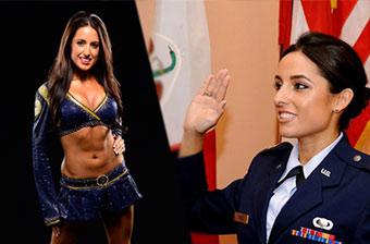 美空军美女军官入选NBA啦啦队