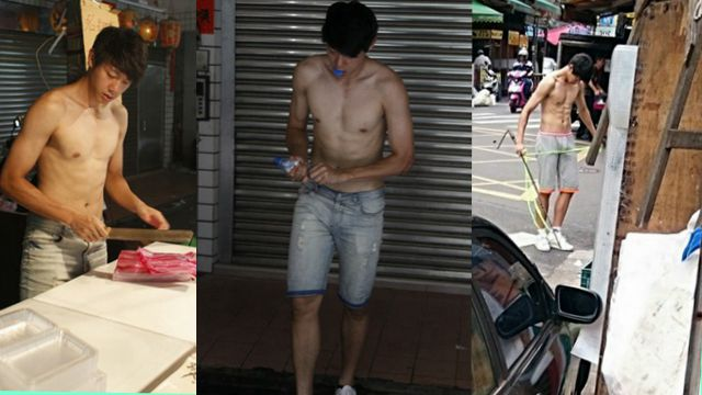 台湾东湖市场体育系小鲜肉网络爆红