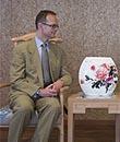 英国贸易投资总署总裁访问中国馆