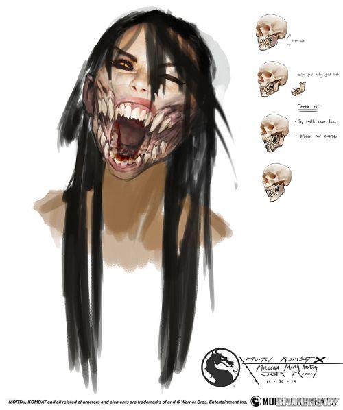《真人快打X》最新原画赏 面罩美女满嘴獠牙