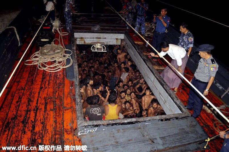 缅甸海军救出200多名孟加拉国非法移民