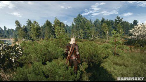 《巫师3》4K像素着色调整效果图 色彩更华丽