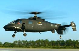美国S-97高速直升机首飞画面