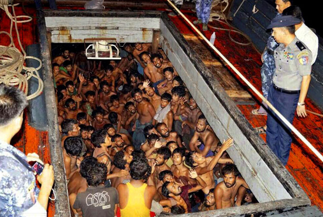 图片一周精选 缅甸警方救出200余名非法移民