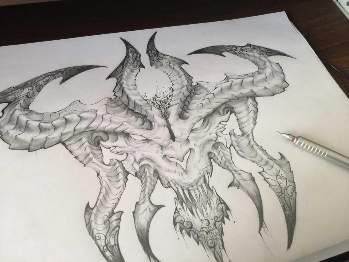 暗黑3玩家的精美手绘