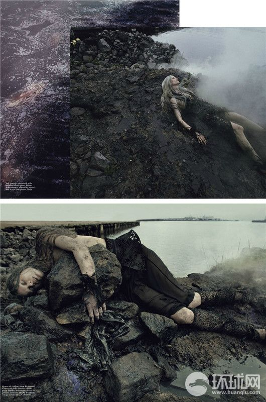 经典大片Water&Oil时尚与人文的结合 人为生态污染的悲情结_时尚_环球网