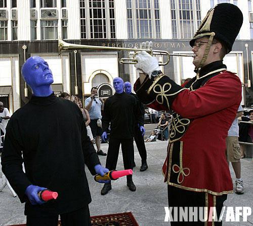"""蓝肤症:蓝色的人,整个十九世纪60年代,一个庞大的""""蓝人""""家族图片"""