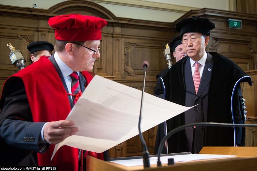 潘基文到访比利时 被鲁汶大学授予荣誉博士学位