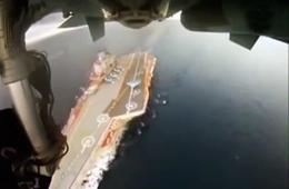 俄罗斯苏33航母舰载机飞行训练大片