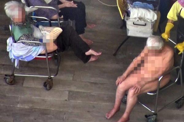 曝香港护老院安排老人露天裸体等待洗澡