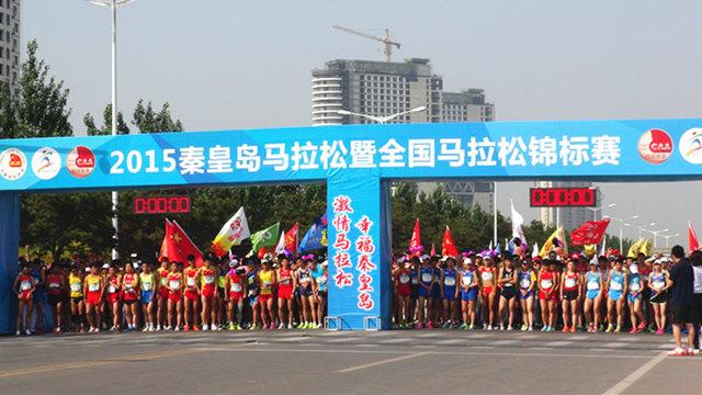 高清:2015秦皇岛马拉松暨全国马拉松锦标赛开跑