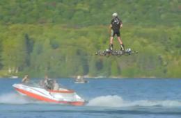 加拿大技术宅自制载人悬浮飞行器