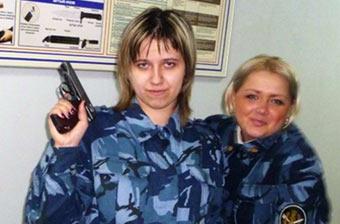 实拍俄罗斯监狱里女性警卫人员