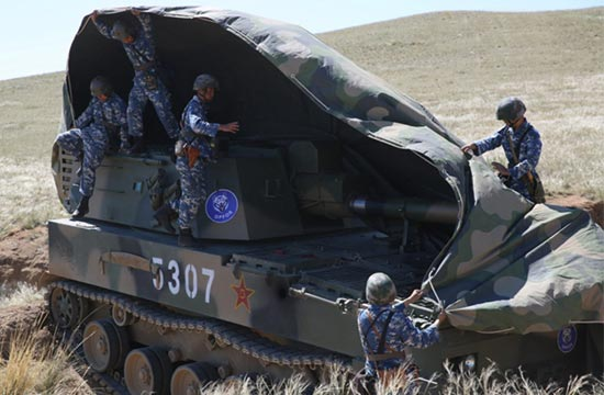 中国专业蓝军再现朱日和基地