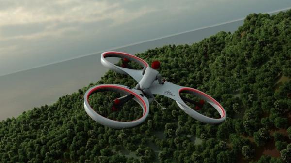 御风飞翔够拉风!新型载人无人机新坐骑面世