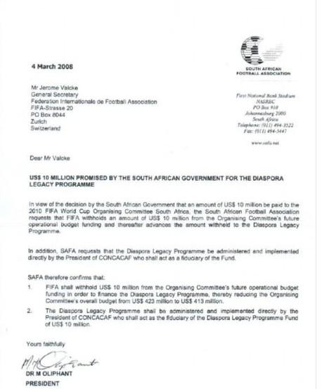 一封信逼布拉特辞职? 美媒称南非贿赂1000万美元