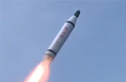朝鲜新型潜艇潜射导弹动态画面公开
