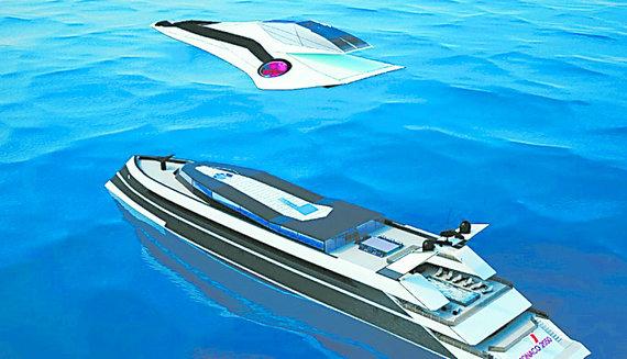 未来飞行器可海空两用 可像鹞式飞机垂直起降