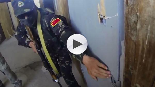 解放军参加上合特种兵联训作战画面