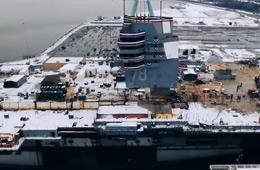 三分钟看完美军福特号航母建造过程