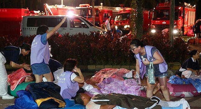 台湾新北市水上乐园发生疑粉尘爆炸