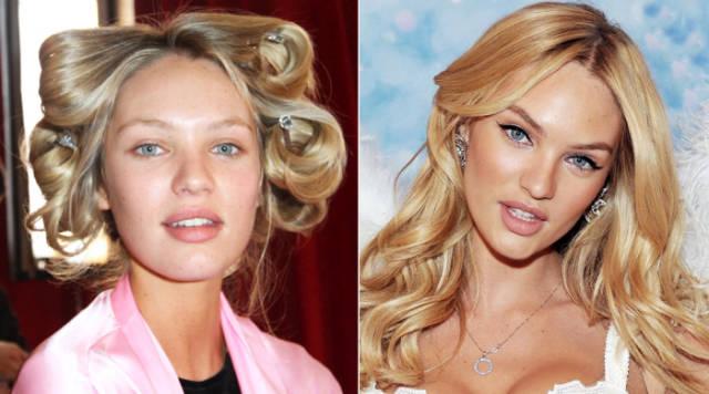 国际超模妆前妆后对比照令人惊讶