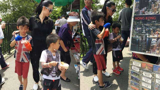 张柏芝携两子游玩共度暑假 场面温馨有爱